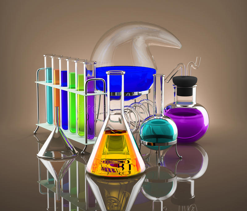 Chemical laboratory stock photography