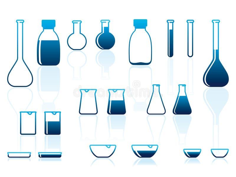 Chemical laboratory ware royalty free illustration