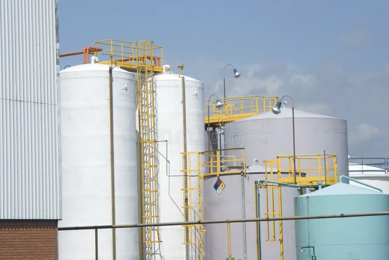 chemical lagringsbehållare arkivbild