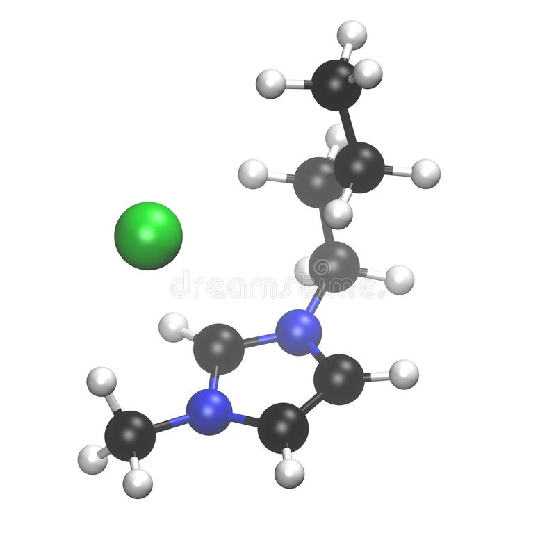 Chemical model of molecules in a crystal royalty free stock photography