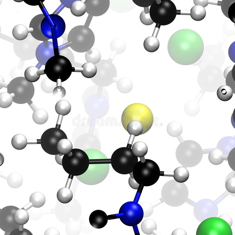 Chemical model of molecules in a crystal royalty free stock images