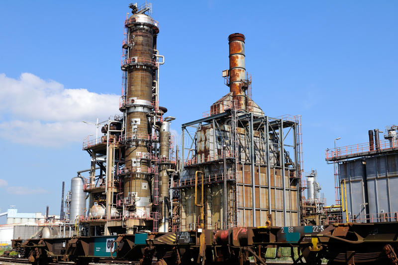 Download Chemical and oil refinery stock photo. Image of industrial - 21279418