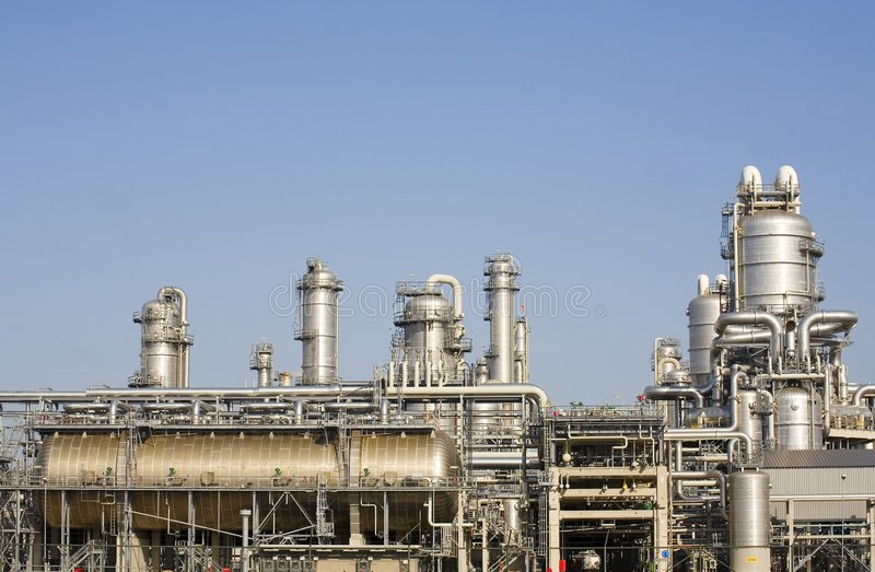 Chemical plant stock photo