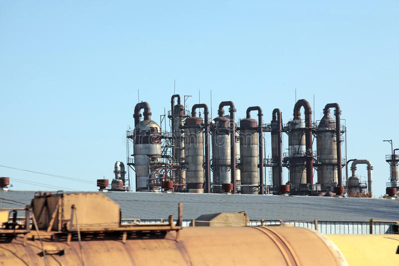 Download Chemical plant stock photo. Image of company, chimney - 26943738