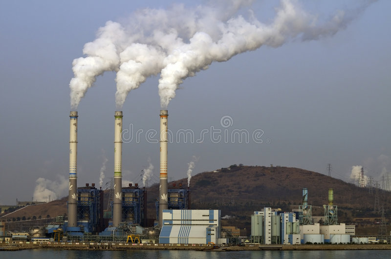 Chemical plant/power station royalty free stock image
