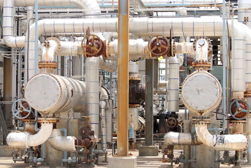 Chemical Process Piping royalty free stock image