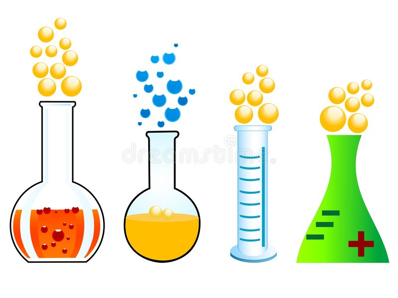 Download Chemical reaction stock illustration. Image of liquid - 5463756