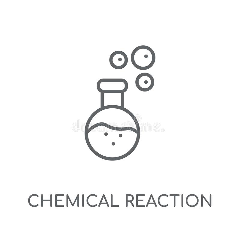 Chemical Reaction linear icon. Modern outline Chemical Reaction vector illustration
