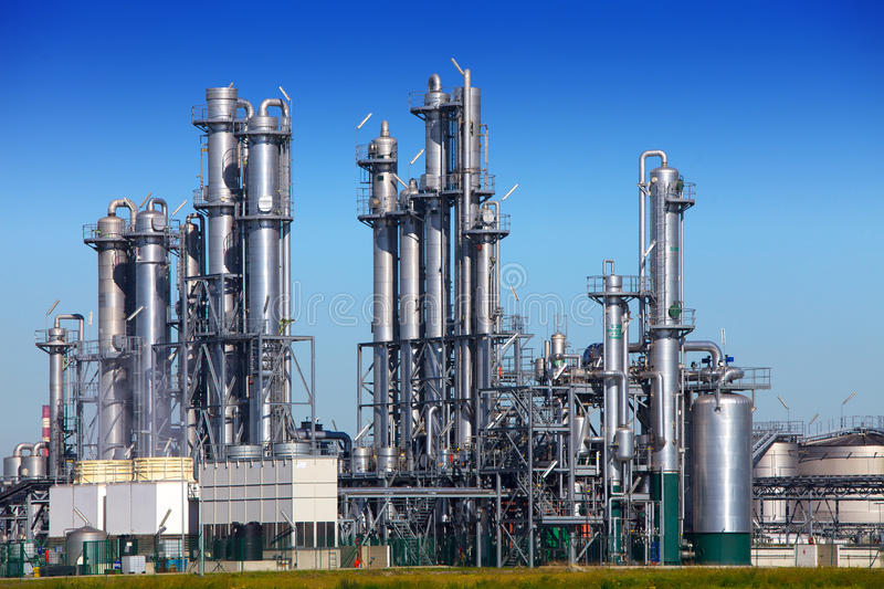 Chemical refinery royalty free stock image