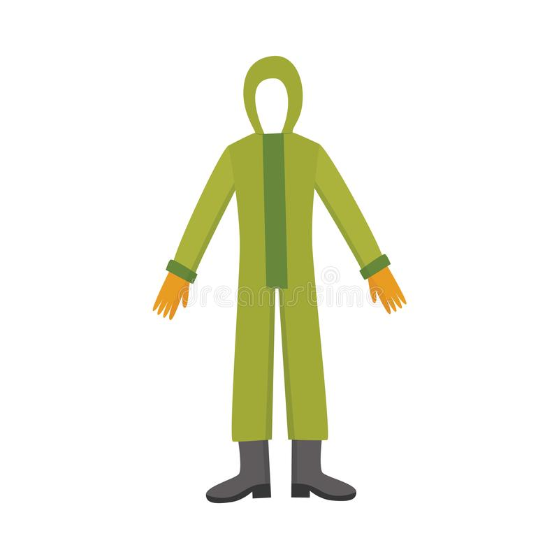 Chemical safety full-body suit stock image