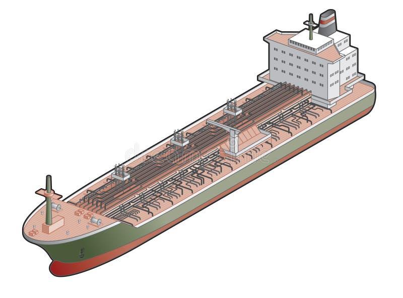 Chemical Ship Icon. Design Elements 41c stock illustration