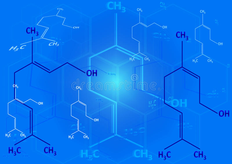 The chemical structural formula of spirit royalty free illustration