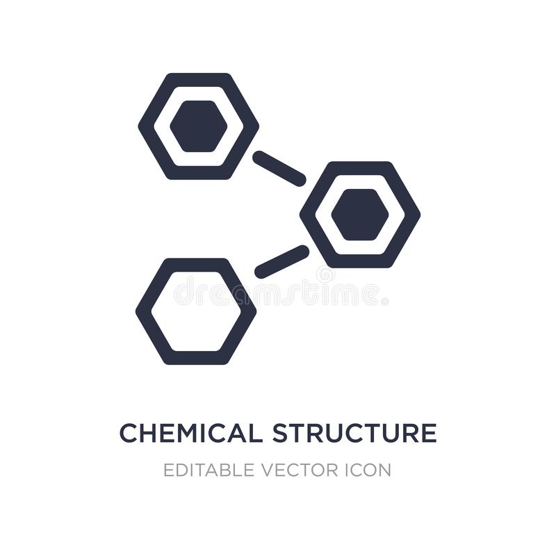 Chemical structure icon on white background. Simple element illustration from Nature concept. Chemical structure icon symbol design stock illustration