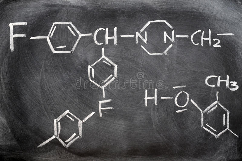 Download Chemical Structures On A Blackboard Stock Photo - Image: 22826780