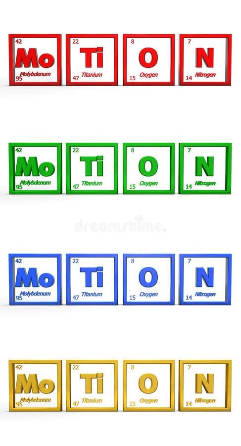 Chemical Symbol Word Motion Stock Illustration Illustration Of