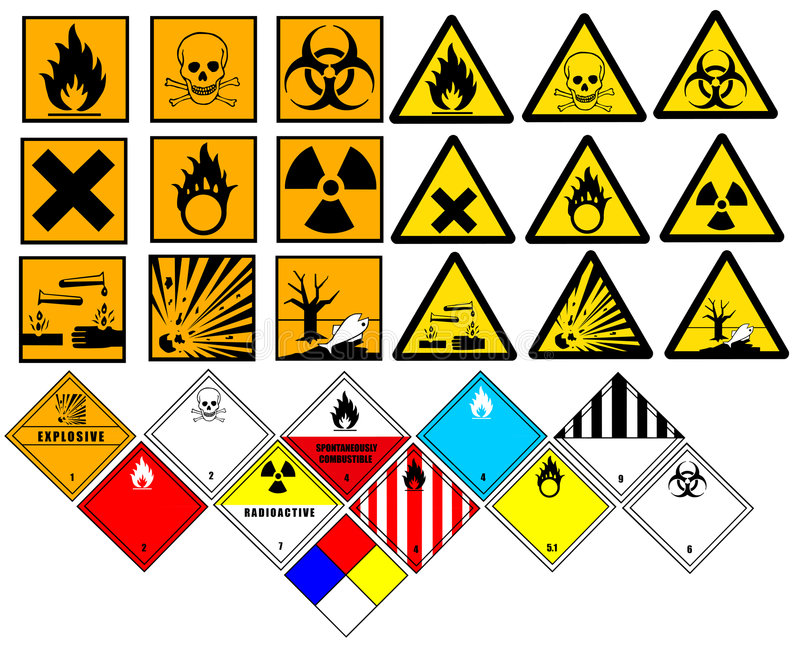 Chemical symbols royalty free illustration