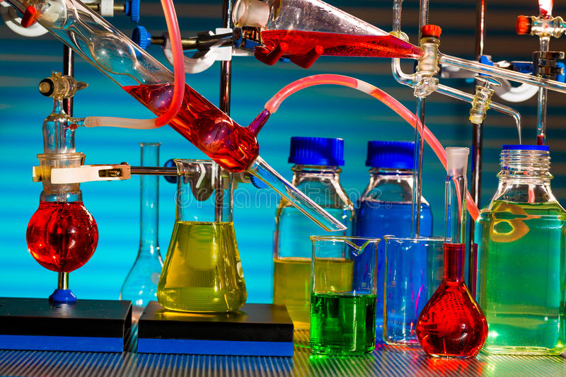 Chemical synthesis royalty free stock photo