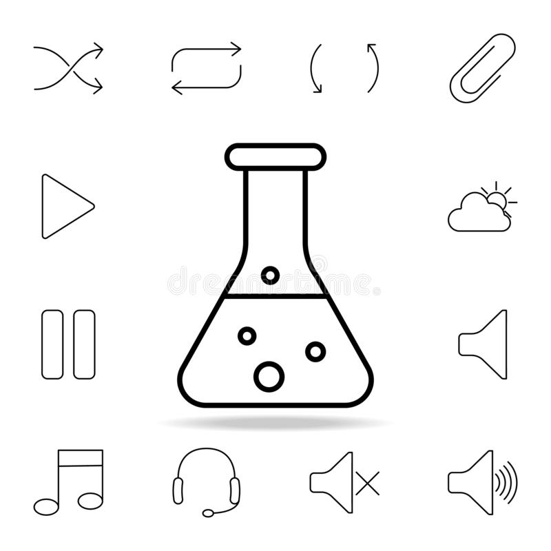 chemical icons set stock vector  illustration of molecule