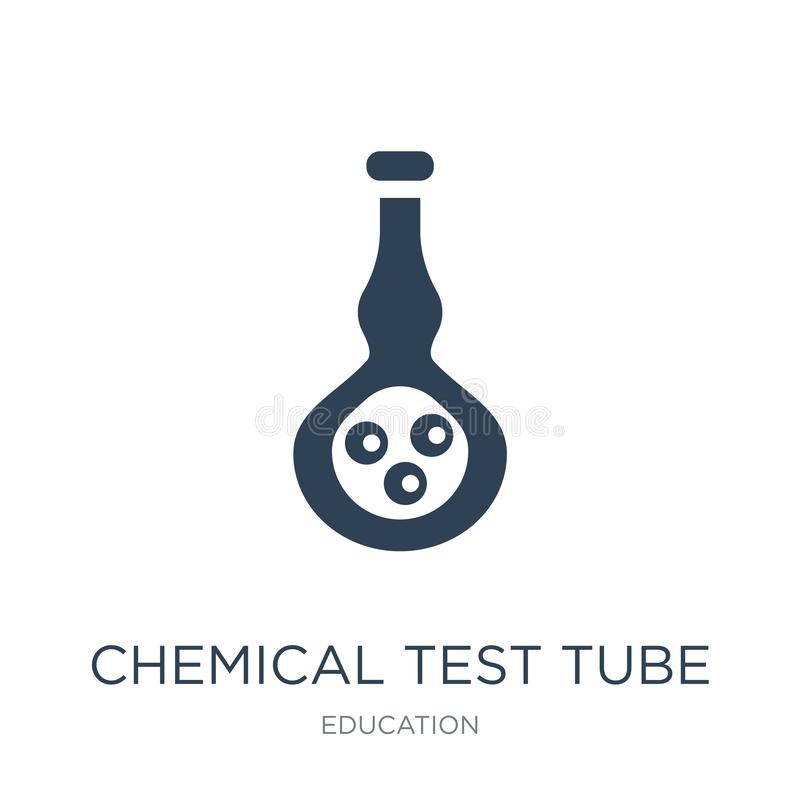chemical test tube icon in trendy design style. chemical test tube icon isolated on white background. chemical test tube vector vector illustration