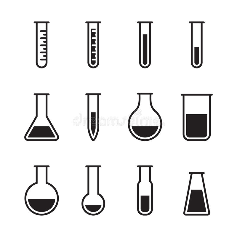 Chemical test tube icons vector illustration