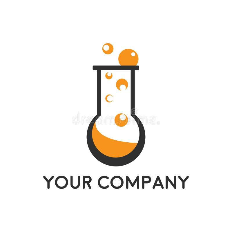 Chemical test tube pictogram icon. Laboratory glassware or beaker equipment isolated on white background. Experiment flasks. vector illustration