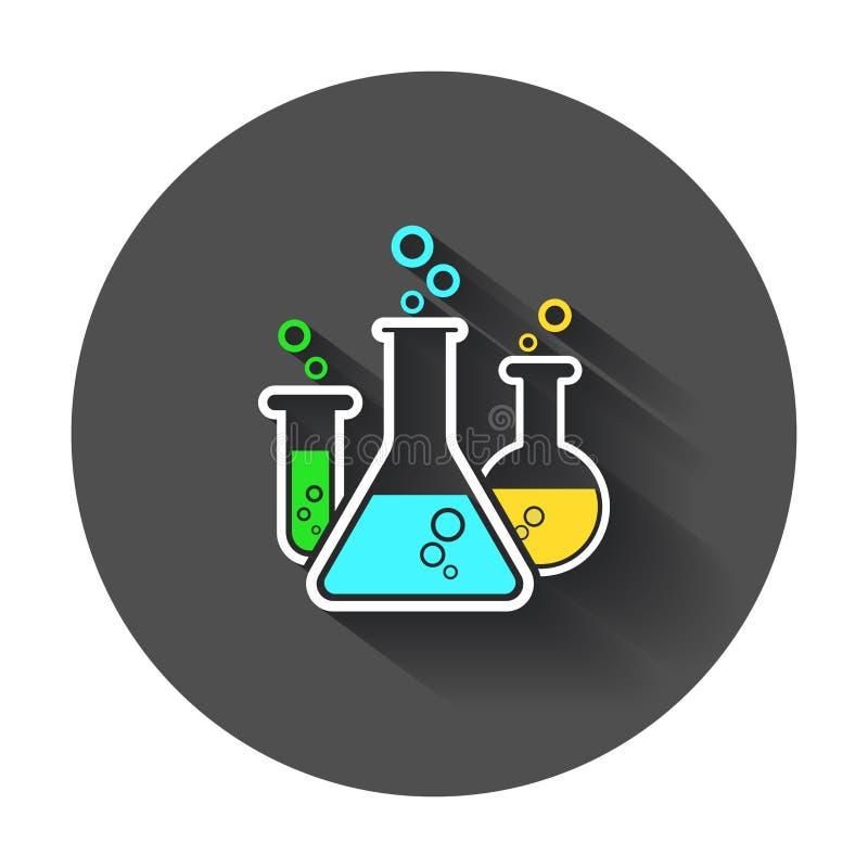 Chemical test tube pictogram icon. royalty free illustration