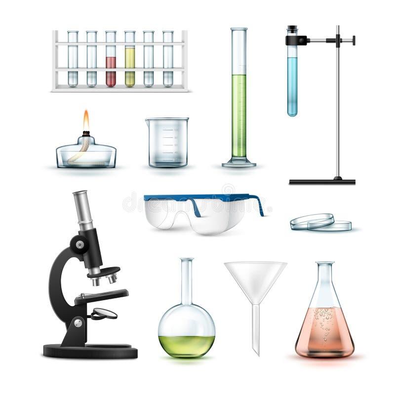 chemical utrustninglaboratorium royaltyfri illustrationer