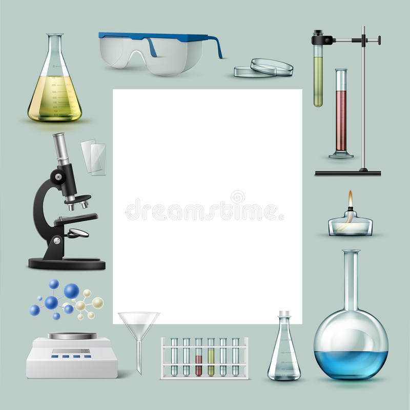 chemical utrustninglaboratorium vektor illustrationer