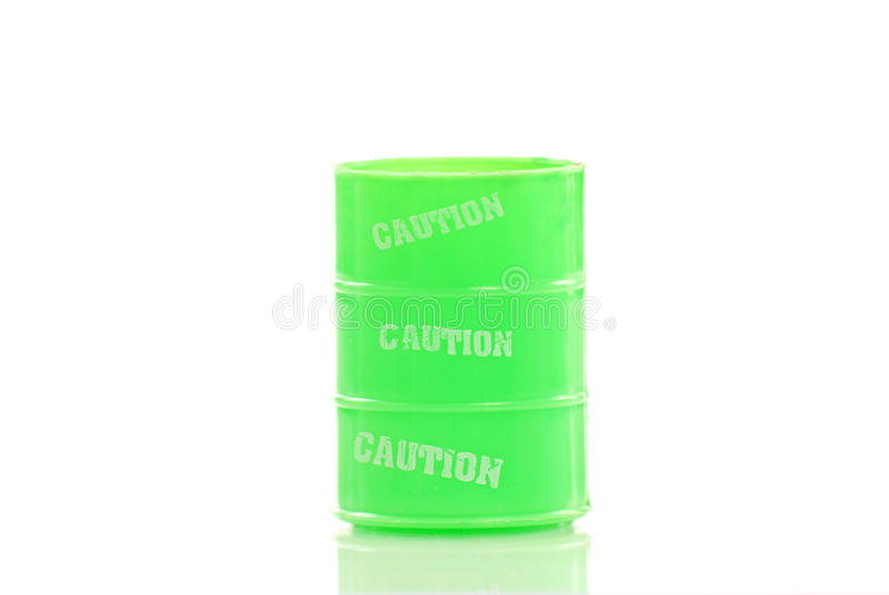 Chemical Waste Container. With Slight Reflection stock photos