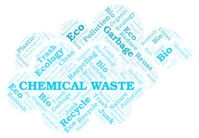 Chemical Waste word cloud royalty free illustration