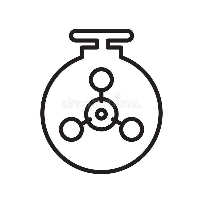 Chemical weapon icon vector sign and symbol isolated on white background, Chemical weapon logo concept, outline symbol, linear stock illustration