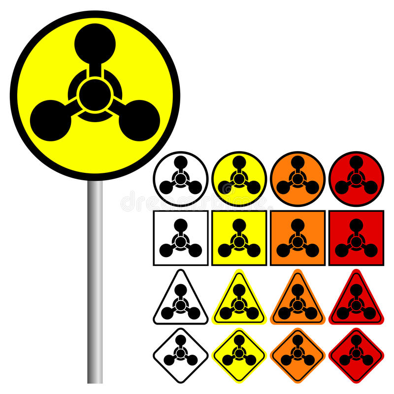 Chemical Weapons Symbol Vector Illustration Stock Vector