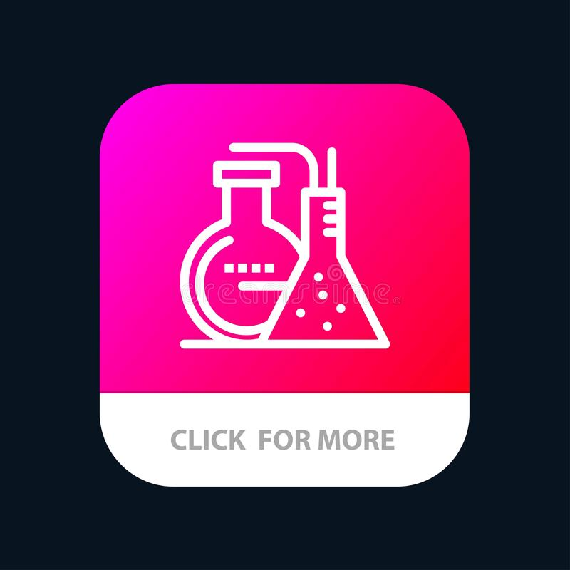 Chemicals, Reaction, Lab, Energy Mobile App Button. Android and IOS Line Version vector illustration