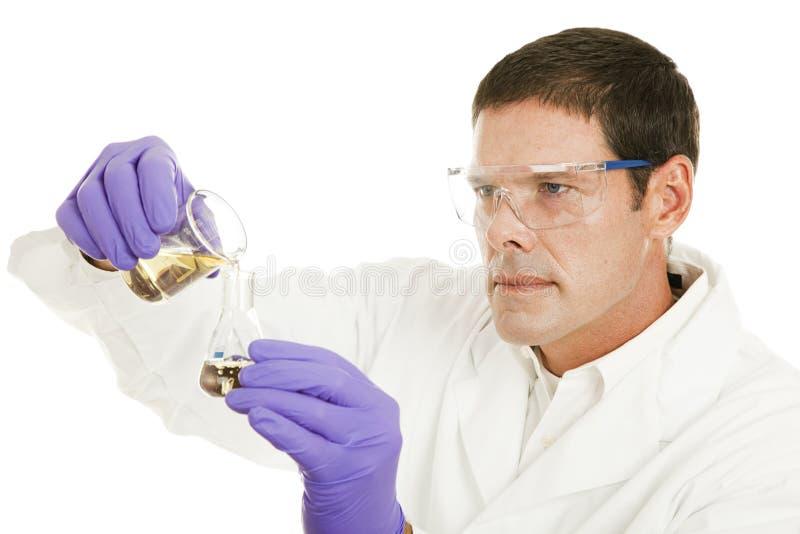 Chemicus op het Werk royalty-vrije stock afbeeldingen