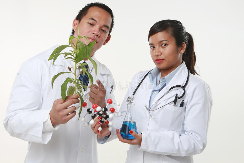 Chemicus Twee stock afbeeldingen