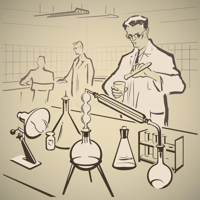 Chemicy bada znowu ilustracji
