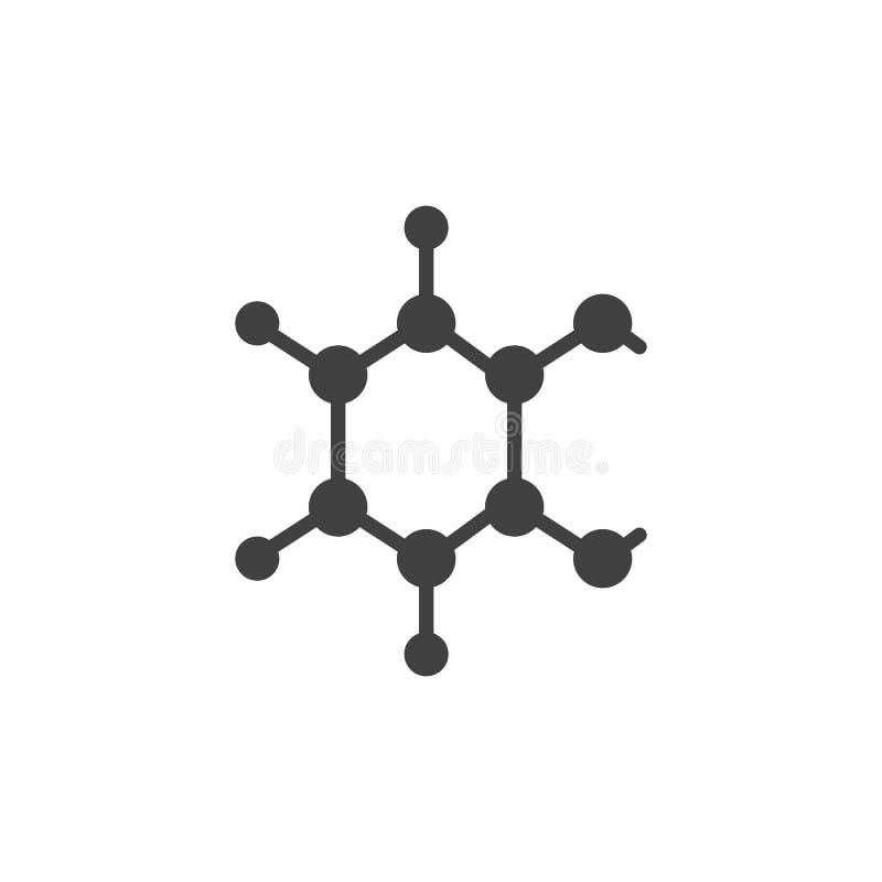 Chemiczna atom struktury wektoru ikona ilustracji