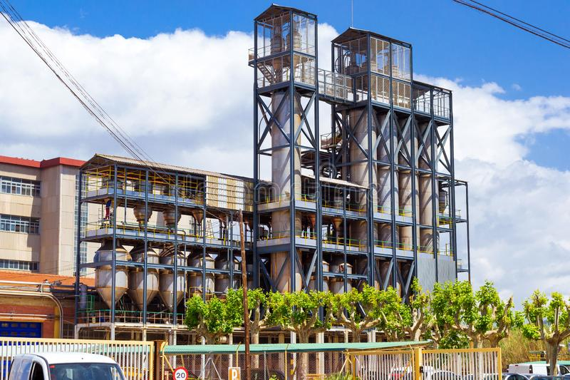 Chemiczna fabryka Belgijska firma Solvay, Blanes zdjęcia royalty free