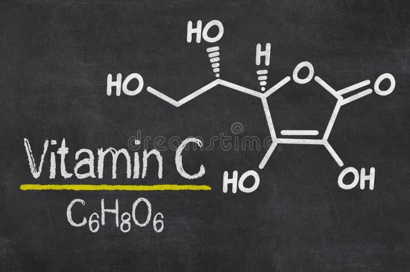 Chemiczna formuła witamina C royalty ilustracja