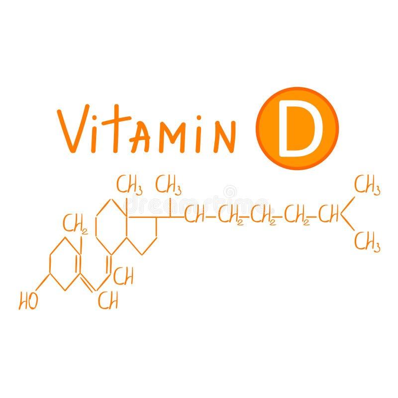 Chemiczna formuła witamina d ilustracja wektor