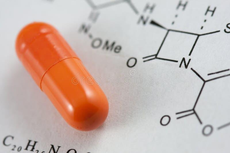 chemiczna kapsuły formuła zdjęcie stock
