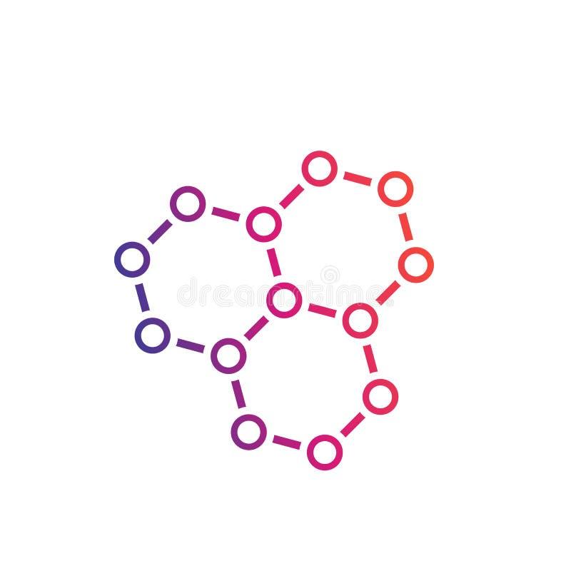 Chemiczna mieszanka, graphene, atomowa struktura ilustracji