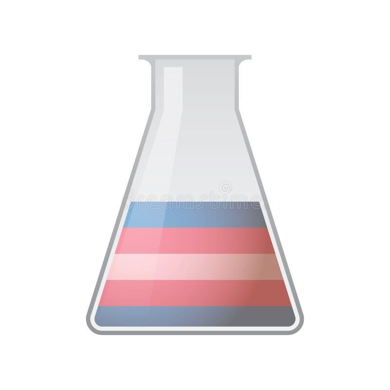 Chemiczna próbna tubka z transgender dumy flaga ilustracji