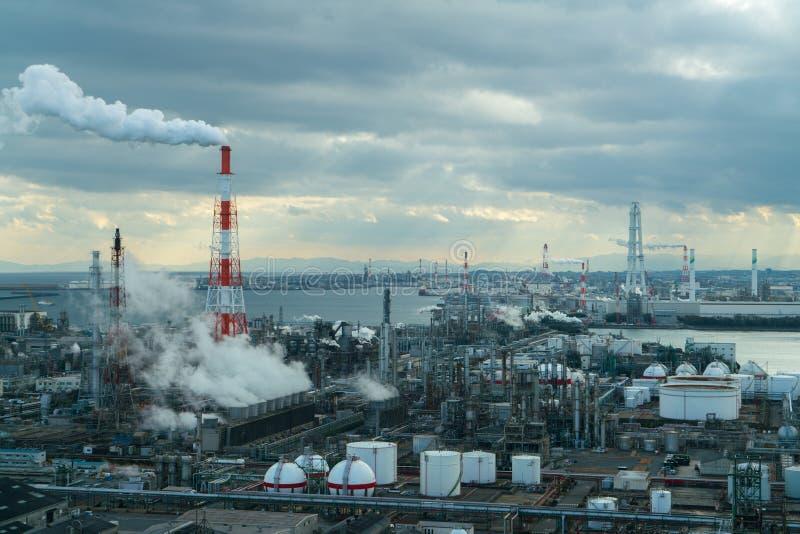Chemiczna przemysłowa fabryka od przemysł strefy fotografia royalty free