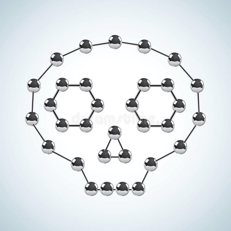 chemiczna struktura ilustracji