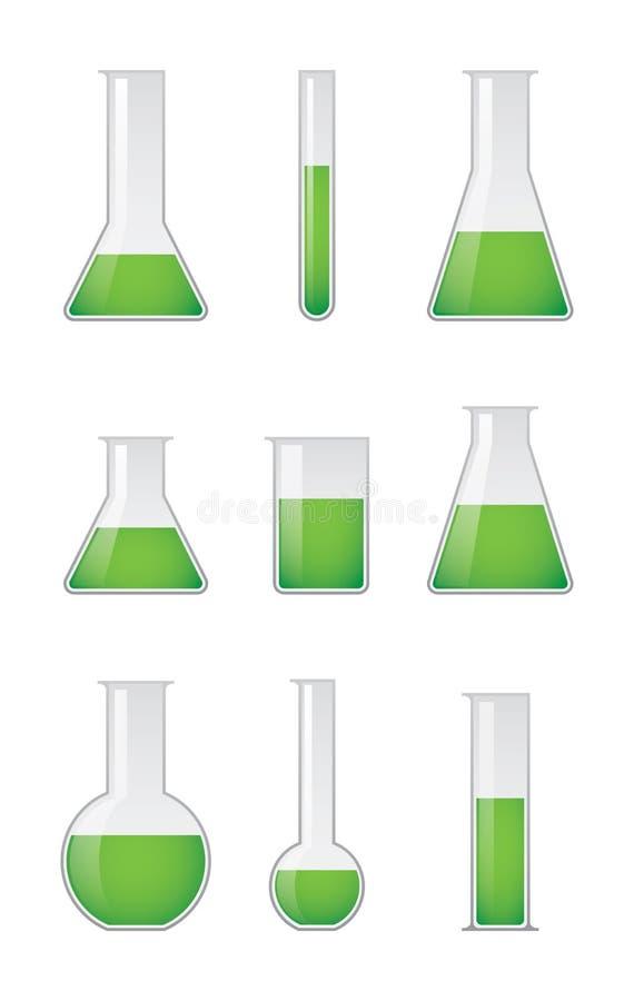 Chemiczne próbne tubki ustawiać royalty ilustracja