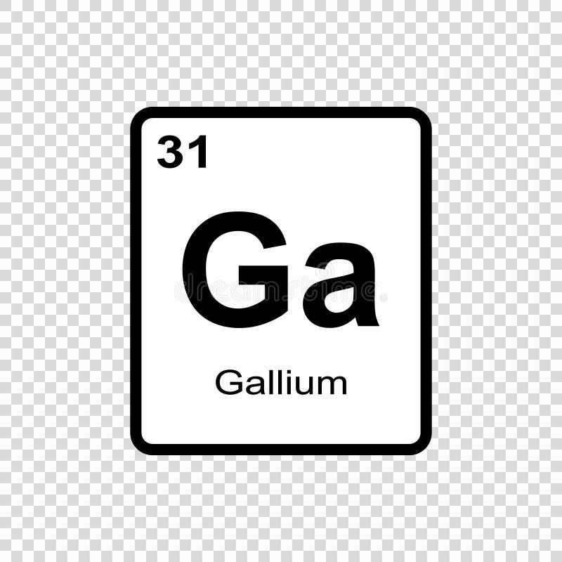 chemicznego elementu gal ilustracja wektor