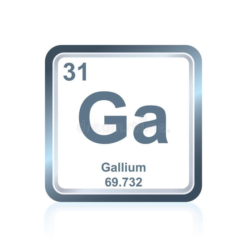 Chemicznego elementu gal od Okresowego stołu royalty ilustracja