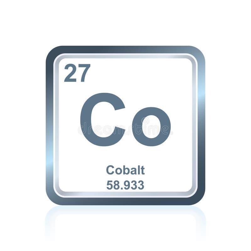 Chemicznego elementu kobalt od Okresowego stołu ilustracja wektor
