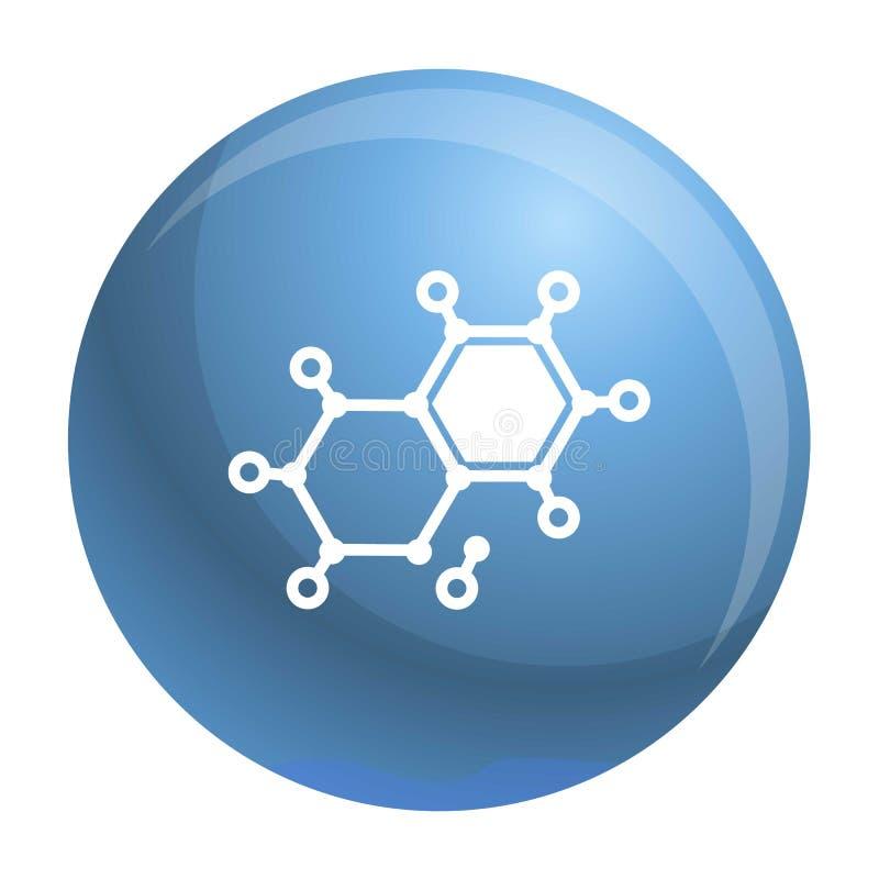 Chemicznego elementu molekuły ikona, prosty styl royalty ilustracja
